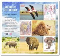 Tanzania 2018, Postfris MNH, Birds, Animals - Tanzania (1964-...)