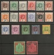 LEEWARD ISLANDS 1938 - 1951 SET SG 95/114b FINE USED Cat £140 - Leeward  Islands