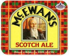 Belgium. Mc. Ewans. Scotch Ale. Brewed In Belgium For John Martin. Finest Beer Selection. - Sous-bocks