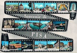 Souvenir Di PISA-TOSCANA -Ricordo Di Pisa - Multivues Film- - Recto Verso-Paypal Free - Pisa