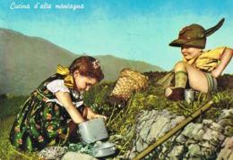 Cucina D'alta Montagna -Enfants- Bambini - Voyagée 1963 - Recto Verso-Paypal Free - Italie