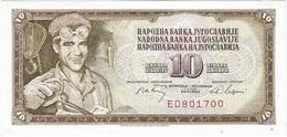 Yugoslavia 10 Dinara 1-5-1968 Pk 82 B Serie De 6 Nºs UNC - Yugoslavia