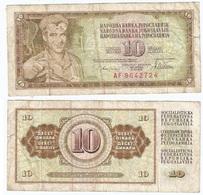 Yugoslavia 10 Dinara 12-8-1978 Pk 87 A Firma 10 Ref 507 - Yugoslavia