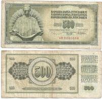 Yugoslavia 500 Dinara 12-8-1978 Pk 91 A Firma 10 Ref 1352 - Yugoslavia