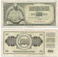 Yugoslavia 500 Dinara 4-11-1981 Pk 91 B Firma 11 Ref 1357 - Yugoslavia