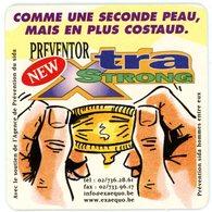 Belgium. Ex Aequo. New Preventor Xtra Strong. Agence Prévention Sida Hommes Entre Eux. Préservatif. Comme Seconde Peau. - Sous-bocks