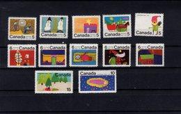 753842030 1971 SCOTT  519 - 530 POISTFRIS MINT NEVER HINGED EINWANDFREI XX CHRISTMAS DESIGNS BY CANADIAN SCHOOL CHILDREN - 1952-.... Règne D'Elizabeth II