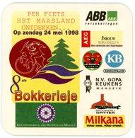 Belgium. 8ste Bokkerieje. Rotaryclub Maaseik. Per Fiets Het Maasland Ontdekken Op Zondag 24 Mei 1998. Milkana ABB AEC KB - Sous-bocks