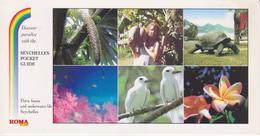 SEYCHELLES - FLORE FAUNE  - Coco Fesse Tortue Oiseau Fleurs - Seychelles