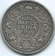 India - George V - 1919 - 1 Rupee - KM524 - Calcutta Mint - Inde