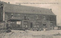 Spa - Tiège-Sart - Hôtel De La Charmille - Arrêt Du Tram Spa-Verviers - Vue Animée - 2 Scans - Spa