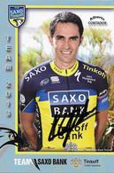 CARTE CYCLISME ALBERTO CONTADOPR SIGNEE TEAM SAXO - TINKOF 2013 - Ciclismo