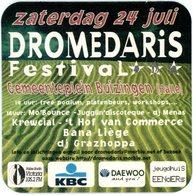 Belgium. Zaterdag 24 Juli. Dromedaris Festival. Gemeenteplein Buizingen (Halle). Bana Liège. DJ Grazhoppa. KBC. Daewoo. - Sous-bocks