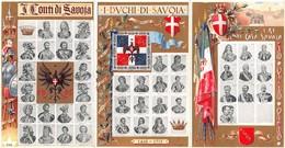 """1051  """"TORINO - I CONTI - I DUCHI - I RE DI CASA SAVOIA - 1416-1713""""  CART  NON SPED - Case Reali"""