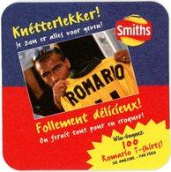 Belgium. Smiths Chips. Romario T-shirts. Follement Délicieux! A Envoyer Pour Le 31/08/1998. Knetterlekker! - Sous-bocks