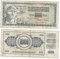Yugoslavia 1,000 Dinara 12-8-1978 Pk 92 C Firma 10 Ref 1359 - Yugoslavia