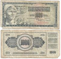 Yugoslavia 1,000 Dinara 4-11-1981 Pk 92 D Firma 11 Ref 1361 - Yugoslavia