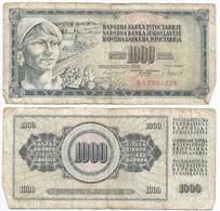 Yugoslavia 1,000 Dinara 4-11-1981 Pk 92 D Firma 11 Ref 1362 - Yugoslavia