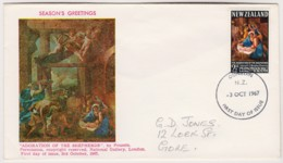 New Zealand 1967 Christmas FDC - FDC