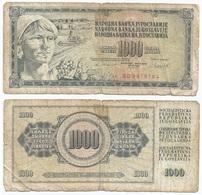 Yugoslavia 1,000 Dinara 4-11-1981 Pk 92 D Firma 11 Ref 1363 - Yugoslavia