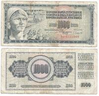 Yugoslavia 1,000 Dinara 4-11-1981 Pk 92 D Firma 11 Ref 1367 - Yugoslavia