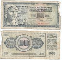Yugoslavia 1,000 Dinara 4-11-1981 Pk 92 D Firma 11 Ref 1368 - Yugoslavia