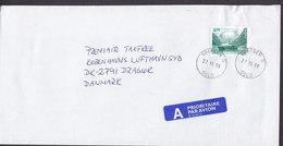 Norway A-Prioritaire Par Avion Label Deluxe GREFSEN Oslo 1998 Cover Brief DRAGOER Denmark Ship Schiff Bateau - Norwegen
