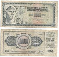 Yugoslavia 1,000 Dinara 4-11-1981 Pk 92 D Firma 11 Ref 1369 - Yugoslavia