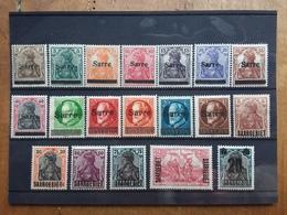 SARRE 1920 - Lotticino 19 Francobolli Differenti Nuovi * Sovrastampati + Spese Postali - Nuovi