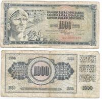 Yugoslavia 1,000 Dinara 4-11-1981 Pk 92 D Firma 11 Ref 1370 - Yugoslavia