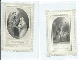2 Images Pieuses Dentelées-La Science Du Crucifix Et Les Fruits De La Dévotion à Marie - Images Religieuses