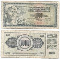 Yugoslavia 1,000 Dinara 4-11-1981 Pk 92 D Firma 11 Ref 1371 - Yugoslavia