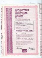 Action Groupement Des Banques Privées - Actions & Titres