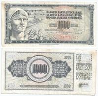 Yugoslavia 1,000 Dinara 4-11-1981 Pk 92 D Firma 11 Ref 1372 - Yugoslavia