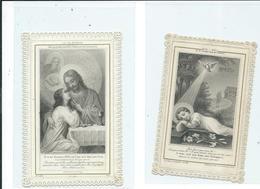2 Images Pieuses Dentelées-La Vie D'Union-Noêl-Noêl Ou Le Dernier Mot De L'amour - Images Religieuses