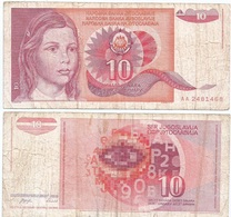 Yugoslavia 10 Dinara 1-9-1990 Pk 103 Ref 1373 - Yugoslavia