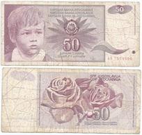 Yugoslavia 50 Dinara 1-6-1990 Pk 104 Firma 14 Ref 1374 - Yugoslavia