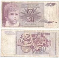 Yugoslavia 50 Dinara 1-6-1990 Pk 104 Firma 14 Ref 1375 - Yugoslavia