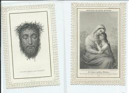 2 Images Pieuses Dentelées-Et Son Amour Est Oublié-je Vous Salue Marie - Images Religieuses