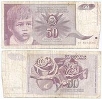 Yugoslavia 50 Dinara 1-6-1990 Pk 104 Firma 14 Ref 1376 - Yugoslavia