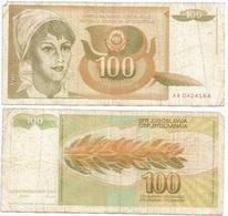 Yugoslavia 100 Dinara 1-3-1990 Pk 105 Firma 14 Ref 1378 - Yugoslavia