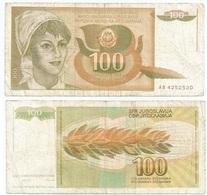 Yugoslavia 100 Dinara 1-3-1990 Pk 105 Firma 14 Ref 1379 - Yugoslavia