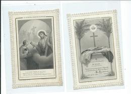 2 Images Pieuses Dentelées-Souvenir D'Ordination -Le Calice De L'expiation Volontaire - Images Religieuses