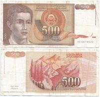 Yugoslavia 500 Dinara 1991 Pk 109 Firma 15 Ref 1380 - Yugoslavia