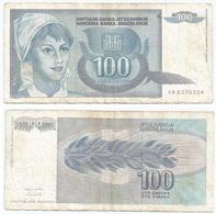 Yugoslavia 100 Dinara 1992 Pk 112 Firma 15 Ref 1382 - Yugoslavia