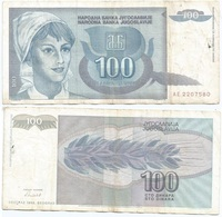 Yugoslavia 100 Dinara 1992 Pk 112 Firma 15 Ref 1383 - Yugoslavia