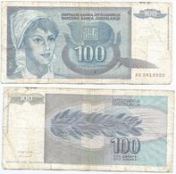 Yugoslavia 100 Dinara 1992 Pk 112 Firma 15 Ref 1384 - Yugoslavia