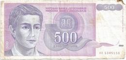 Yugoslavia 500 Dinara 1992 Pk 113 Firma 15 Ref 1385 - Yugoslavia