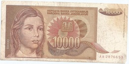 Yugoslavia 10,000 Dinara 1992 Pk 116 A Firma 16 Ref 1388 - Yugoslavia