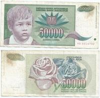 Yugoslavia 50,000 Dinara 1992 Pk 117 Firma 16 Ref 1389 - Yugoslavia